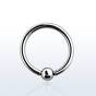 Surgical steel ball closure ring