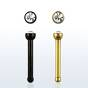 anodized surgical steel nose screw