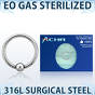 Sterilized steel ball closure ring