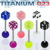 Titanium G23 tongue barbell