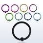 PVD plated ball closure ring