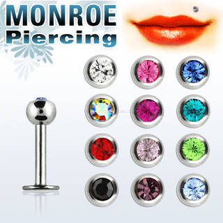 Surgical steel monroe piercing