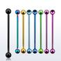 Anodized steel industrial barbell