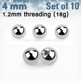 Set of 10 pcs.surgical steel balls