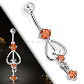 Belly button navel ring