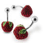 Crystal stone Red Apple Belly Ring